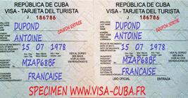 Visa Cuba : commande visa cuba